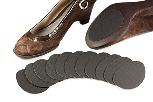 Price comparison product image Non Slip Sole Protector Pads for Women's High Heels,  12 Pack (6 Pairs),  TPU For Extra Shoe Anti-Slip Grip Stickers,  Black