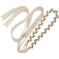 sweetv Glaring boda vestidos de novia Cinturón Rhinestone Hoja Sash Cinturón Mujeres Accesorios