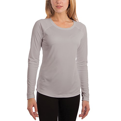 Vapor Apparel Women's UPF 50+ UV Sun Protection Performance Long Sleeve T-Shirt Small Pearl Grey ()