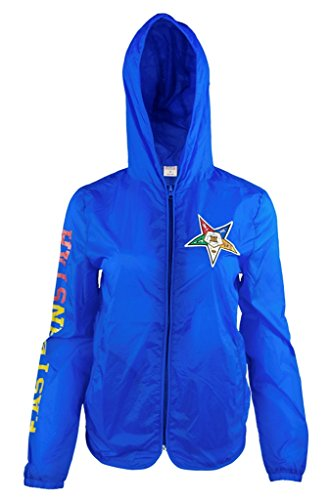 Order of The Eastern Star Womens Light Jacket With Pocket 2XL Blue