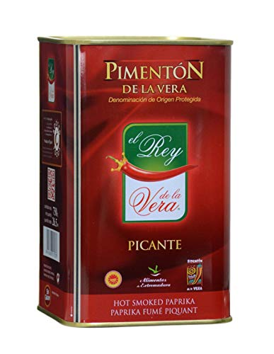 Spicy Hot Smoked Paprika (Pimenton) from Spain 750g by Rey de la Vera