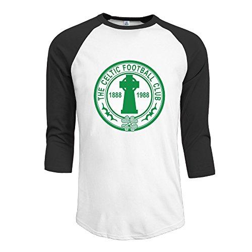 51253c1d3f73 Celtic F.C. Football Team T Shirts Fashion 3 4 Sleeve T Shirt Men