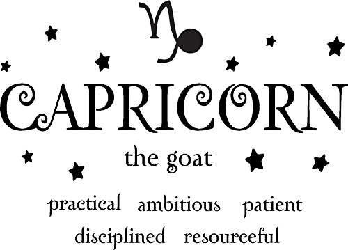 Capricorn the goat horoscope zodiac vinyl wall art decal home decor sayings quotes