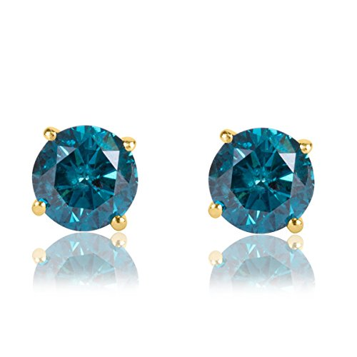 1-3-carat-premium-blue-diamond-solitaire-screw-back-stud-earrings-pair-in-14k-yellow-gold