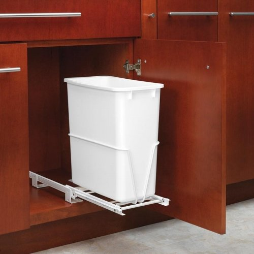 Rev-A-Shelf RV-814PB Single 20 Qt. Pullout Waste Container -