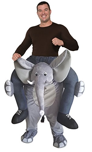 Forum Novelties Men's Ride-an-Elephant Deluxe Costume, As As Shown, OS]()