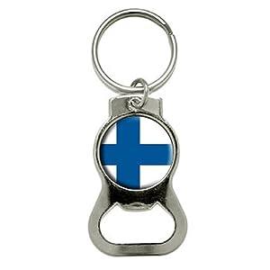 graphics and more finland finnish flag bottle cap opener keychain kb0524. Black Bedroom Furniture Sets. Home Design Ideas