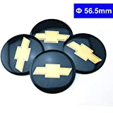 4pcs D026 56.5mm Emblem Badge Sticker Wheel Hub Caps Centre Cover Black CHEVROLET CRUZE Silverado Volt MALIBU EPICA AVEO SAIL CAPTIVA Camaro