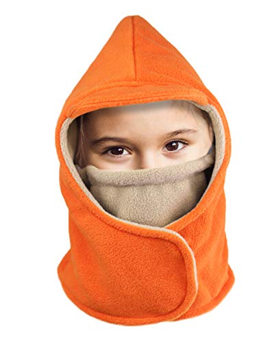 Amatory Kids Winter Warm Snow Hat Beanie Cold Weather Skull Cap Toddler Boys Girls Baby (Orange-S-Size)
