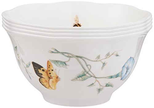 Image is loading Lenox-Butterfly-Meadow-Rice-Bowls-Set-of-4-  sc 1 st  eBay & Lenox Butterfly Meadow Rice Bowls Set of 4 China Dinnerware Pottery ...