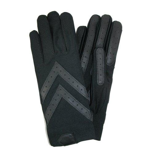Isotoner Women's Spandex Shortie Unlined Glove,Black,One ...