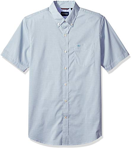 (Dockers Men's Short Sleeve Button Down Comfort Flex Shirt, Micro Check Trellis, 2X-Large)