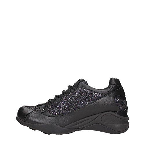 FORNARINA zapatos zapatillas de deporte de las mujeres acuñan PE17SE8922V000 NEGRO talla 38 NEGRO fpcJC