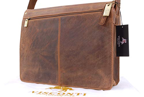 Tan Messenger Bag Leather A4 Visconti 18548 UwZ0P4nq