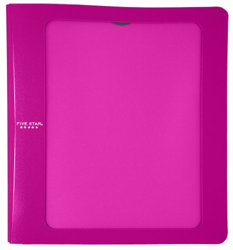 Five Star 1-1/2 Inch 3 Ring Binder, View Binder, Customizable, Purple (72500)