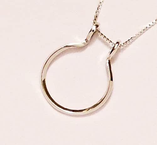 Amazon.com: Ring And Charm Holder Necklace, Smooth Open
