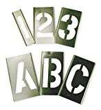 Interlocking Stencil, Letters and Numbers, 3'', Brass, 1 EA - 6A232