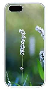 Bush Flowers Cover Case Skin for iPhone 5 5S Hard PC White