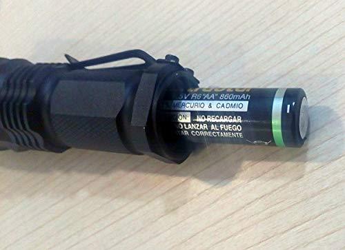 Potente y largo alcance Linterna de LED tactica profesional J5 Policia Bomberos Seguridad Nocturna Zoom Facil de transortar