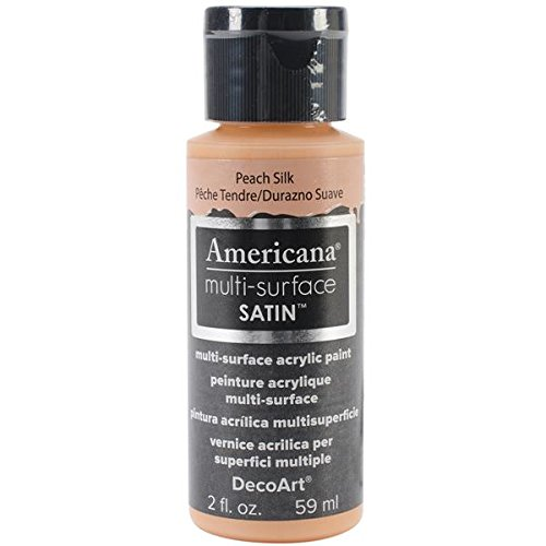 (DecoArt Americana Multi-Surface Satin Acrylic Paint, 2-Ounce, Peach Silk)