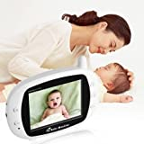 """Video Baby Monitor 3.5"""" Large LCD Screen Display with Night Vision Camera, Two Way Talk Audio, Temperature Sensor, ECO Mode, Lullabies and Long Transmission Range"""