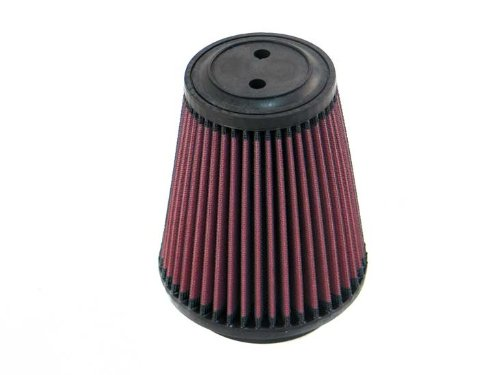 K&N RU-5141 Universal Clamp-On Air Filter: Round Tapered; 4 in (102 mm) Flange ID; 6 in (152 mm) Height; 5.375 in (137 mm) Base; 3.5 in (89 mm) Top