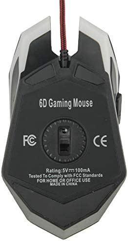 Happyshopping M100R USB Optical Mouse USB 6D Wired Optical Magic Gaming Mouse for Computer PC Laptop,for E-Sports Mechanical Game Keyboard