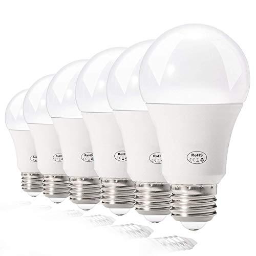 BATHEBRIGHT E26 Led Bulb 60 Watt Light Bulbs,Daylight White 5000K Non-dimmable Lamp,70 Watt Equivalent Indoor/Outdoor Yard Porch Patio Decorative (6 Pack)