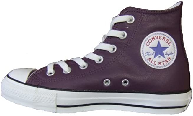 Converse Neu All Star Chucks Leder Color: Plum Lila