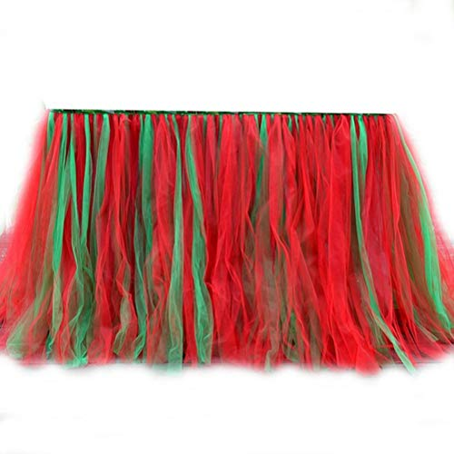 Halloween Christmas Tulle Table Skirt Party Decoration Diy Quality Detachable Long Tutu Skirt for Banquet 100x80cm]()