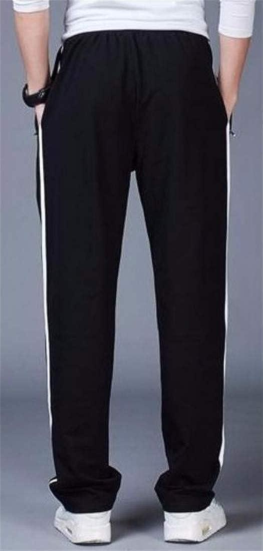 XiaoTianXinMen XTX Mens Stripe Breathable Sport Sweatpant Baggy Straight Fit Long Pants