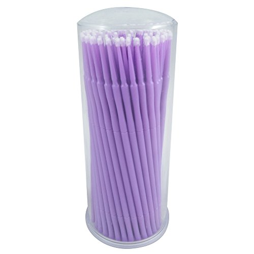 ATLIN Disposable Micro Brush Applicators, 100 Pack of 1.5mm Touch Up Paint Brushes