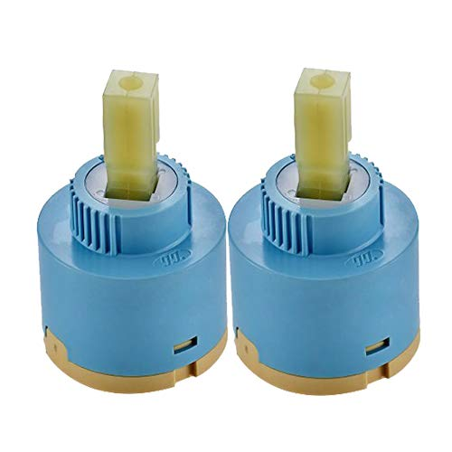 Wovier Replacement Single Handle Faucet Cartridge Ceramic Disc Valve 35mm Diameter (2 -