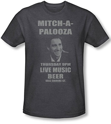 (Old School - Mens Mitchapalooza T-Shirt In Charcoal, Size: Large, Color: Charcoal)