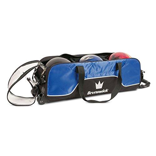 Brunswick Crown - Bolso para bolos (triple, sin bolsa), color plateado azul cobalto