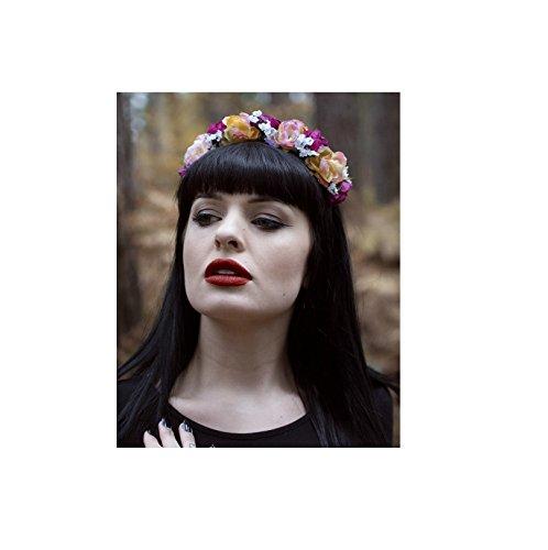 Rose de bébé haleine Guirlande Cheveux Fleur Couronne Serre-tête Vintage Rose/Noir U24* * * * * * * * exclusivement vendu par–Beauté * * * * * * * *