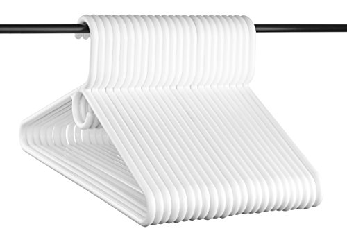 (Neaties USA Made Super Heavy Duty White Plastic Hangers, 24pk)