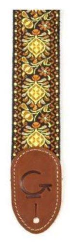 Gretsch G 922-0060-102 Brand Guitar Strap - Yellow/Orange (Best Guitar Strap Brands)
