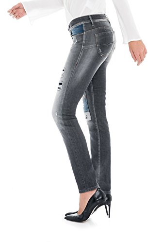 Up Slim Wash Con Grigio Shape Push Pantaloni Premium Salsa 0PTIEE