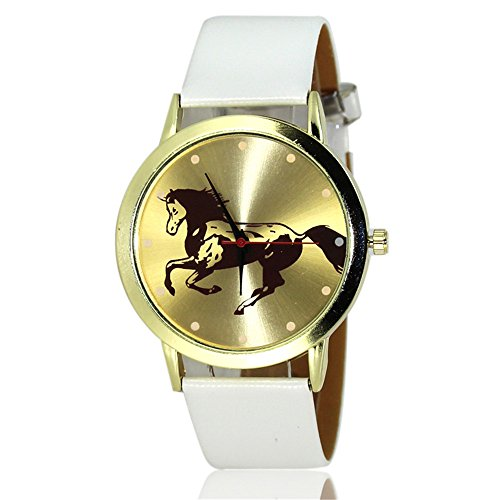 - Loweryeah Men and Women Pu Leather Quartz Watch Personalized Animal Print Dial