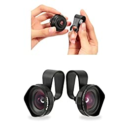 Arealer® Wide Angle Clip-on Cell Phone Lens Kit, Professional 18MM Camera Lens Wider Landscape High Clarity for iPhone Android Smartphones