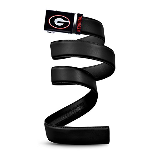 NCAA Georgia Bulldogs Mission Belt, Black Leather, Extra Large (up to 42)