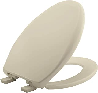product image for MAYFAIR 1887SLOW 006 Affinity Slow Close Removable Toilet Seat that will Never Loosen, Providing the Perfect Fit, ELONGATED, Long Lasting Solid Plastic, Bone
