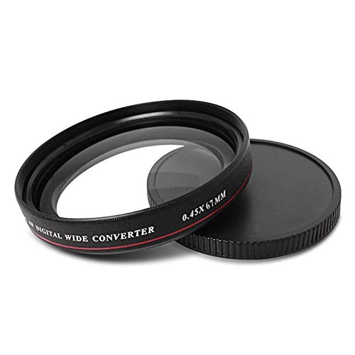 ZOMEI ultrasottile 0.45X Pro MC AFDigital convertitore grandangolare Wide Angle Multi-Coated Optical Glass Lens Filter Camera Accessories nero