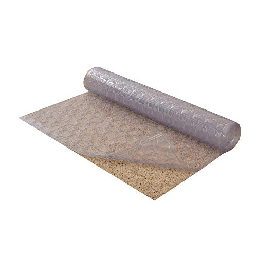 Resilia - Mosaic Pattern Clear Vinyl Plastic Floor Runner/Protector for Low Pile Carpet - Non-Skid (27 Inches Wide x 6 Feet Long)]()