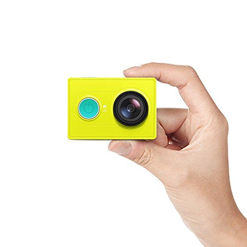 YI Action Camera 1080P Lime Green White Black 16MP Full HD 155 Degree Ultra-Wide Angle Sports Mini Camera (Green/China/Camera Only)