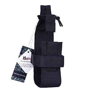 Huijukon Water Bottle Holder Belt Tactical Molle Bottle Carrier for Walking Running Cycling Hiking (Black(Cir:10.2-13.4inch))