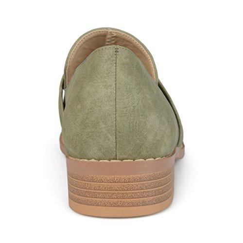 Journee Samling Kvinners Klassiske Mandel Toe Loafers Grønne