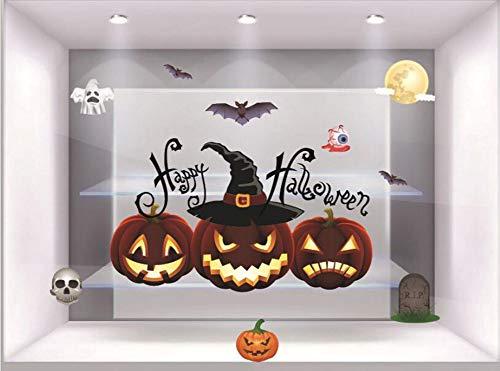Etiqueta Engomada De Halloween, Linterna De Calabaza, Etiqueta Engomada Estática De La Electricidad, Partido, Partido,...