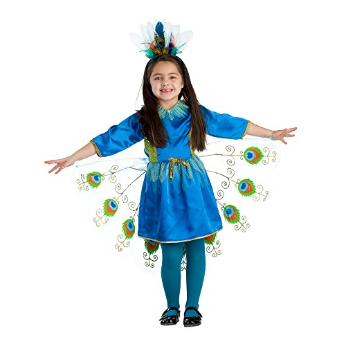 Proud Peacock Costume - Size Toddler 4